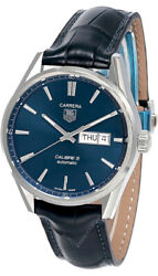 New Tag Heuer Carrera 41mm Automatic Blue Dial Menand039s Watch War201e.fc6292