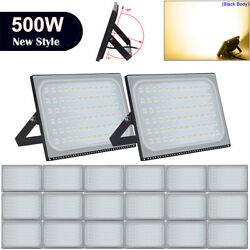 20X 500W LED Flood Light Outdoor Yard Security Lighting Warm White Lamp AC110V