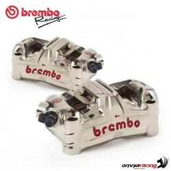 Brembo Racing Gp4 Ms Monoblock 100mm Pitch Radial Calipers Lh + Rh - Panigale V4