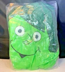 """Vintage 1960s Inflatable Green Giant Sprout 24"""" Full Body"""