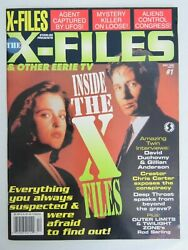 Starlog And039inside The X-filesand039 Duchovny Anderson Aliens Ufos Sterling 1 Edition