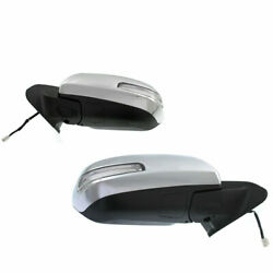 Mirror Set Fits 2012-2015 Toyota Tacoma Left + Right With Signal Light Chrome