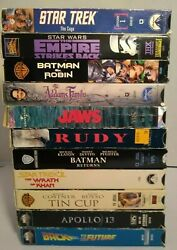 Lot Of 11 Vhs Tapes Various Titles