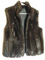 Womans Faux Mink Fur Reversible Waterproof Vest M
