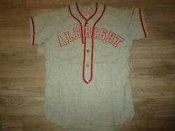 Albright College Lions 3 Baseball Team Ncaa Game Used Worn Dd Flannel Jersey