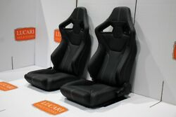 Rxi Low Base White Stitch Front Pair Of Seats Fit Land Rover Defender 90 110