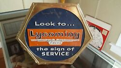 Lycoming Avation Rare Collectiable Vintage Avco Transportation Sign