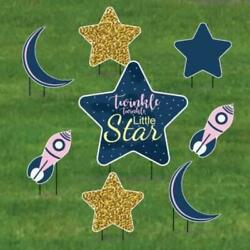 Pink Twinkle Twinkle Little Star Pathway Decorations 8 Piece Set