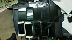 Apple Iphone A15333 A14291 A16881 Lot Of 5 Iphones, 5 Android Phones