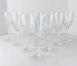 8 Royal Doulton Clear Cut Crystal Wine Glass Stems Stemware Marked