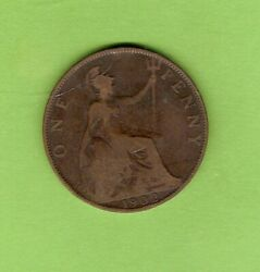1902 Great Britain Bronze One Penny