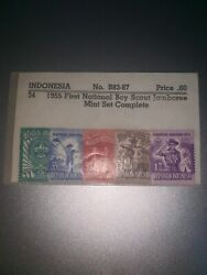 Rare Stamp Full Set 1955 Indonesian Boy Scout Stamp.andnbsp