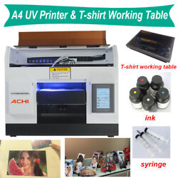 A4 Uv Printer 6 Color For Phone Case Metal Glass Flat And T-shirt Working Table