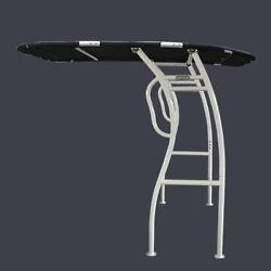 New Dolphin Pro2 T Top White Coated Frame Black Canopy W/ Qr Knobandlight Mount