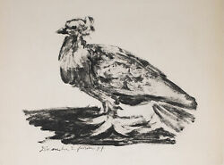 Le Gros Pigeon The Big Pigeon 1949 Limited Edition Lithograph By Pablo Picass