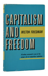 Capitalism And Freedom Milton Friedman First Edition 1962 1st Print Nobel
