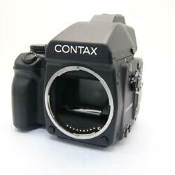 From Japan Contax 645 Ae Prism Finder With 120 Holders Film Camera