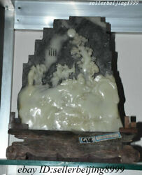 Collect Old China Shoushan Stone Hand Carved Visit Friends In The Village Statue