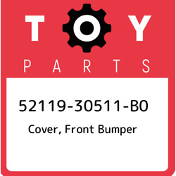 52119-30511-b0 Toyota Cover Front Bumper 5211930511b0 New Genuine Oem Part