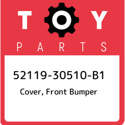 52119-30510-b1 Toyota Cover Front Bumper 5211930510b1 New Genuine Oem Part