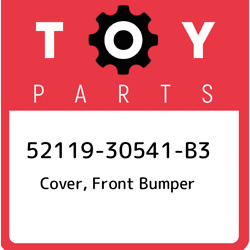 52119-30541-b3 Toyota Cover Front Bumper 5211930541b3 New Genuine Oem Part