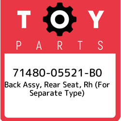 71480-05521-b0 Toyota Back Assy, Rear Seat, Rh For Separate Type 7148005521b0,