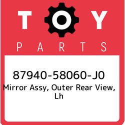 87940-58060-j0 Toyota Mirror Assy Outer Rear View Lh 8794058060j0 New Genuine