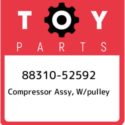 88310-52592 Toyota Compressor Assy W/pulley 8831052592 New Genuine Oem Part