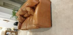 Beautiful Duresta Panther Brown Leather Sofa Cost New Andpound5800
