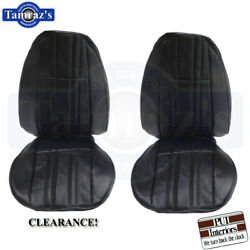 75-76 Nova Front Bucket Seat Upholstery Covers Black Clearance Standard Interior