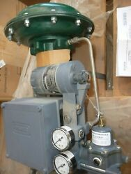New Fisher Ez 1 1/2 Valve Actuator Size 30, Type 667 With 582i Controller