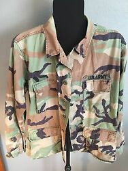 Vintage Us Army Camouflage Uniform Spearhead Military With 2 Patches