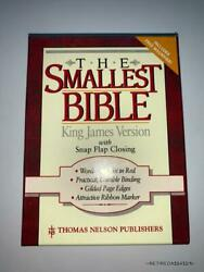 New The Smallest Bible King James Version Thomas Nelson Snap Flap Closing Black