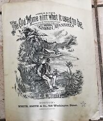 The Old Home Ain't What It Used To Be 1877 Black Americana C A White Sheet Music