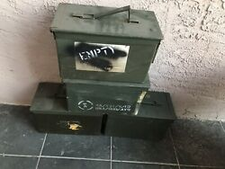 (4 PACK) 50 Cal M2A1 AMMO CAN GOOD CONDITION * FREE SHIPPING * EMPTY Surplus