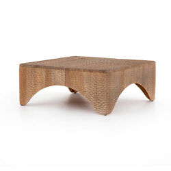 40 W Coffee Table Hand Carved Mahogany Solid Wood One Of A Kind Contemporary