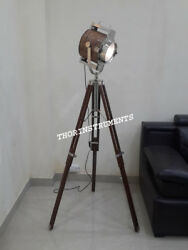 Nautical Aluminium Search Light Spot Light With Brown Tripod Stand Best Gift