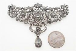 IMPRESSIVE ANTIQUE GEORGIAN SILVER & GOLD ROSE CUT DIAMOND SLIDE  BROOCH c1750