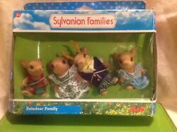 Calico Critters/sylvanian Families Vintage Rare Moss Reindeer Family Read