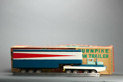 Antique Tin Toy Boxed Sss International Turnpike Truck Carrier Japan Rare