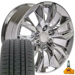 20x9 5916 Rims, Tires And Tpms Set Fits Chevy And Gmc 20 2337622
