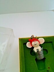 Mouse In A Thimble Christmas Ornament Hallmark Tree Trimmer Collection 1978