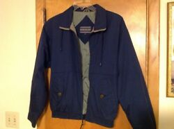 David Taylor All Weather Nylon Navy Outerwear Men's Jacket Small