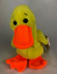 1993 Ty Beanie Baby Quackers - Mint W/errors - Special Tag - No Star