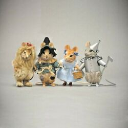 R John Wright 75th Anniversary Wizard Of Oz Mice Set Of Four 59 Of 75 Nrfb