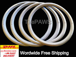 Front Tire R18 Back Tire R15 Motorcycle White Sidewall Portawall Tire Trim Set