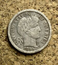 1895 O 10c Barber Dime 90 Silver Us Coin Bd290 Very Rare Scratches 44ok Minted