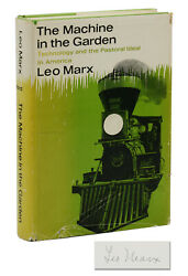 The Machine In The Garden Leo Marx Signed First Edition 1964 Technology 1st