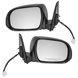 New Pair Power Side Mirror Heated Signal Puddle Lamp For 10-13 Toyota 4runner