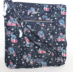 Vera Bradley Triple Zip Large Hipster Cross Body In Holiday Owls New